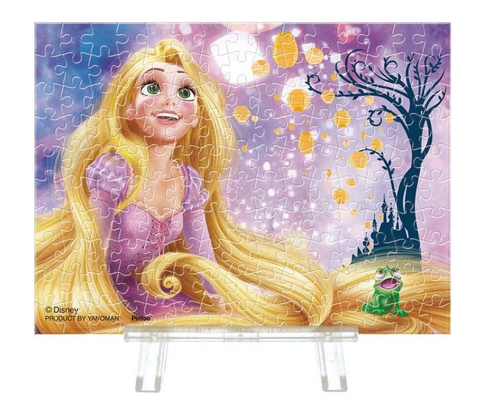 日本進口拼圖 迪士尼 長髮公主 Rapunzel 樂佩 魔髮奇緣 150片迷你透明塑膠拼圖 2308-10