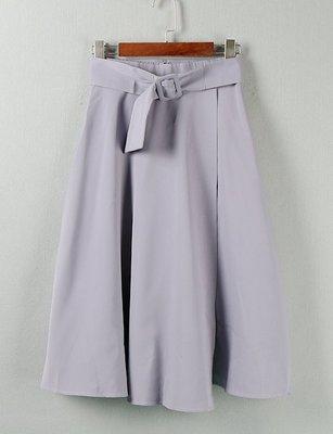 【WildLady】 日本氣質質感顯瘦A字腰帶長裙 高腰裙COCO DEAL RENA*
