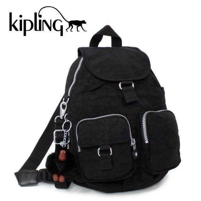 KIPLING BASIC 13108 900  FIREFLY 後背包 翻蓋 束口 書包 小猴子♡LUCI日本代購♡