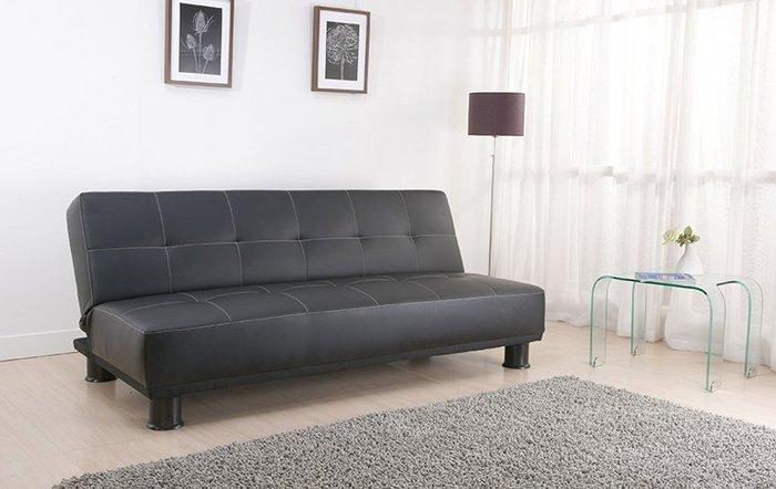 【班尼斯國際名床】~米修‧米修‧乳膠皮革超厚坐墊-多人座大尺寸沙發床!