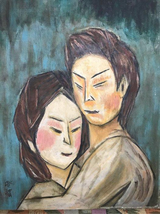 陳澄波。油畫。老畫作