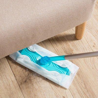 伸縮式旋轉平板拖把夾固式地拖家用擦玻璃靜電除塵紙地板拖布托把JJ058