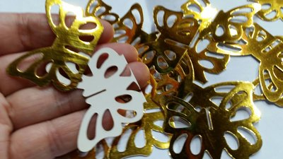 金色蝴蝶小卡//小吊卡100個*0.3=30元
