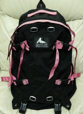 正版 Gregory Day & and a Half Pack 激罕 黑色 X 粉紅邊 背囊 Backpack (Made in USA)
