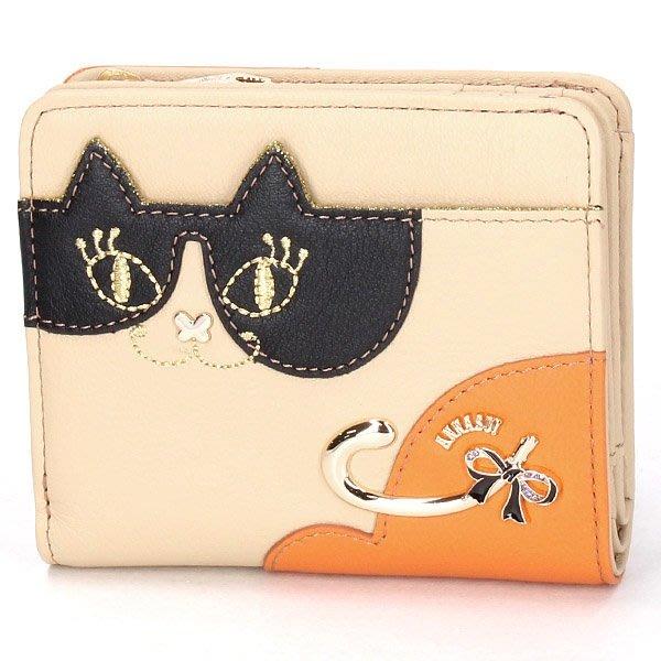 【真命天女】日本 Anna Sui 安娜蘇 皮夾 二折夾 財布200721411