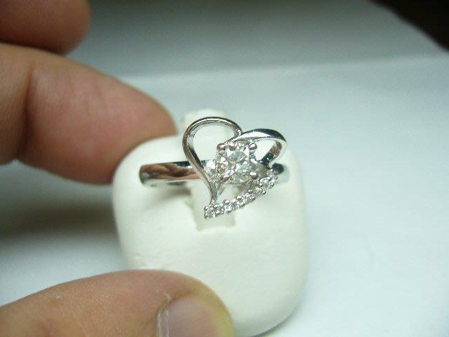 [吉宏精品交流中心]31分 南非天然鑽石 白K金 戒指(公關生日禮物)