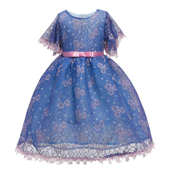 •*~ 辣媽咪衣飾小舖 ~*•❤童裝系列❤K960437韓版大童夏款甜美清新時尚蓬蓬蝴蝶結公主禮服公主洋裝
