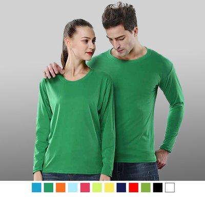 尼克-專業團體制服*LS-1065*經典圓領長袖純棉T恤/12色,加大尺寸