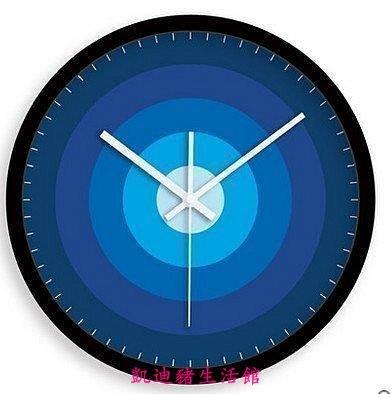 【凱迪豬生活館】敦品創意掛鐘/麗聲RHYTHM芯/12寸超靜音時鐘鐘錶 藍色KTZ-201041