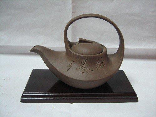 70年-宜興-紫砂堤樑壺---