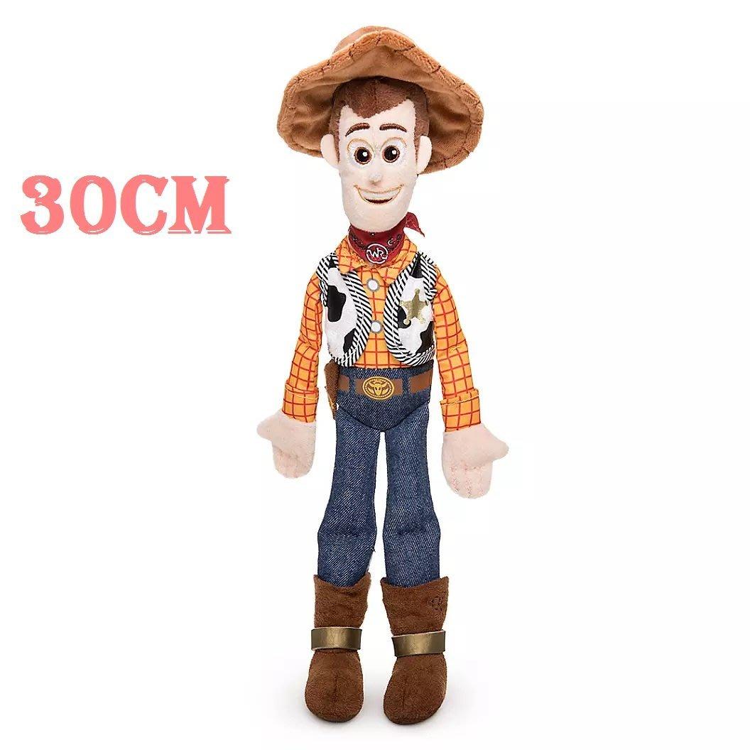 【美國大街】正品.美國迪士尼玩具總動員4牛仔玩具總動員胡迪絨毛娃娃胡迪小型 Woody 12吋 / 30cm