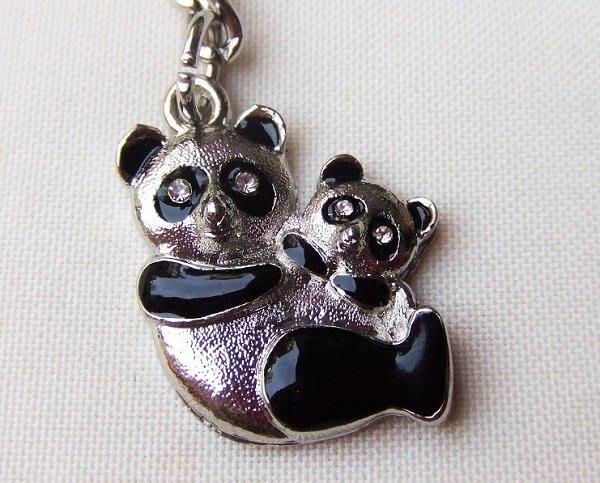 ☆創意小物店☆ 熊貓A-4 鑰匙扣/創意可愛金屬鑰匙圈 時尚造型個性飾品(扁圈或問號鉤  二選一)