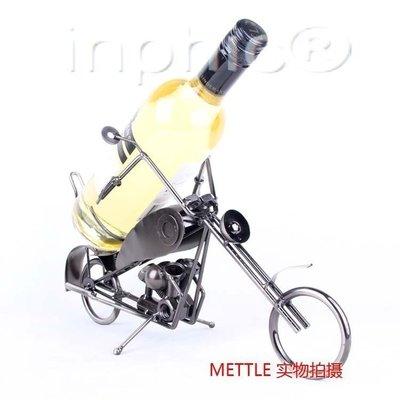 INPHIC-西餐廳裝飾品 紅酒架 酒架 摩托車模型 鐵工藝擺設 現代廚房擺飾