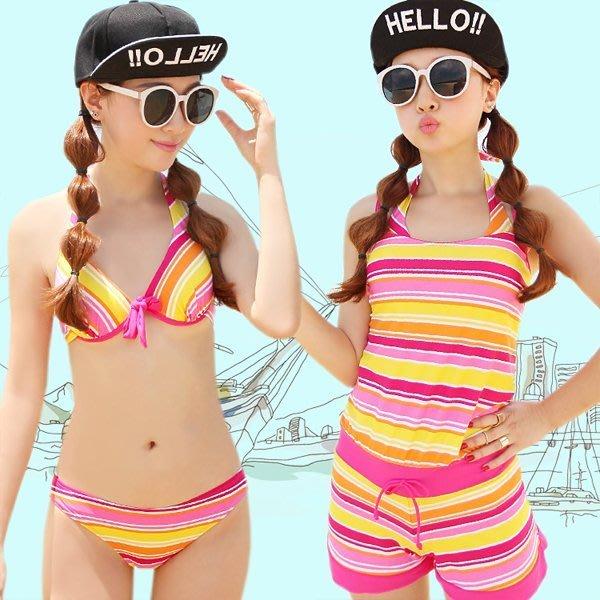 5Cgo【鴿樓】會員有優惠 13283346236 保守泳裝連體平角三件套遮肚顯瘦鋼托聚攏游泳衣女