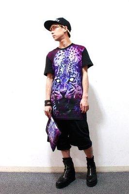 【傑森精品】日本 日式 日系 PARADOX 長版 長款 個性 豹子 豹紋 印花 短袖T恤 TEE 男女可穿 特價