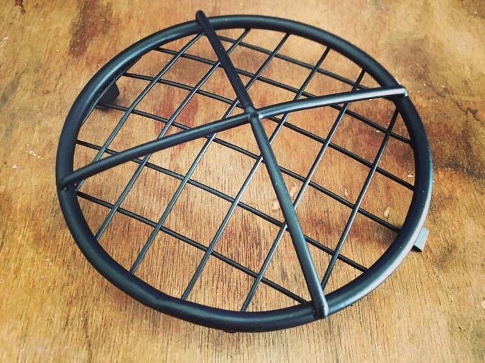 (I LOVE樂多)5.5吋大燈不鏽鋼(黑色)交叉柵欄網罩CHOPPER old school HOT ROD越野 滑胎