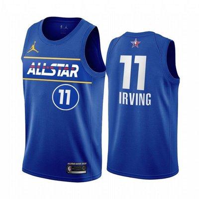 凱里·厄文(Kyrie Irving)NBA 2021全明星賽球衣 熱轉印款式 11號 藍色