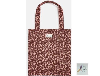 當日寄出[現貨] 英國代購 英國Jack Wills 花卉手提袋 書包 購物袋 紅色