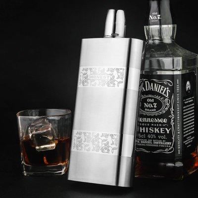 Honest/百誠 不銹鋼酒壺1一斤裝 戶外便攜17盎司大容量酒瓶