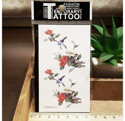 【萌古屋】小清新枝葉花鳥 - 男女防水紋身貼紙刺青貼紙K12