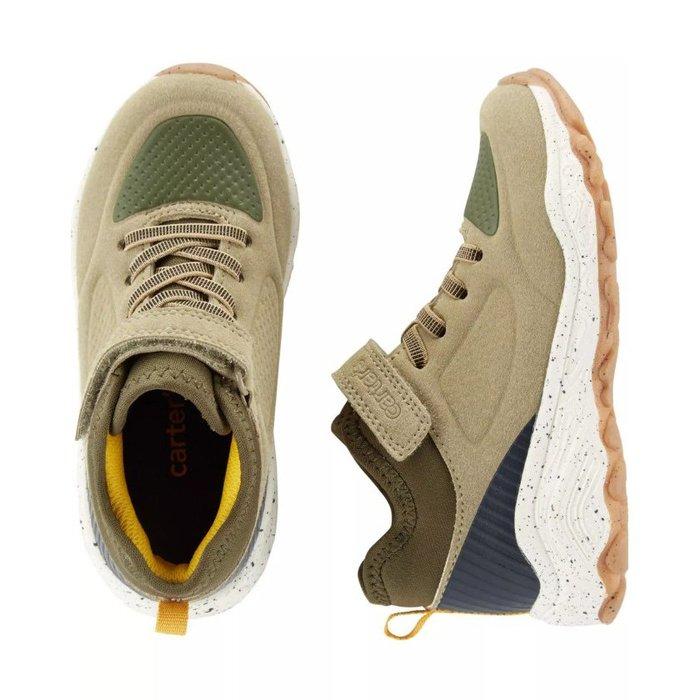 【Carter's】CS男童球鞋黃白底卡其 F03191003-21