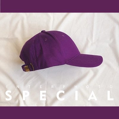 爆款--誰帶誰潮的ins紫色帽子女夏韓版學生純色鴨舌帽街頭潮人棒球帽男#帽子#鴨舌帽#潮流#小清新