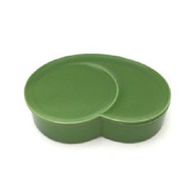 日本陶瓷【小田陶器】織部墨綠色 陶瓷飯盒 保鮮盒 餐盤 織部~日本製餐盤 環保餐具 瓷盤 置物盒 收納罐 餐盒
