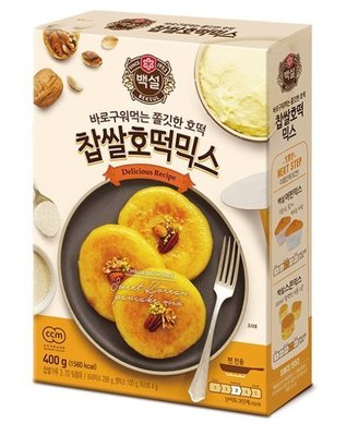 匯盈一館~韓國爆漿花生口味黑糖餅호떡 DIY 400g/盒韓國糖餅預拌粉~現貨