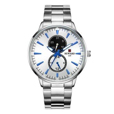 【可開統編】REWARD新款81004鋼帶手表丨商務男士手表丨防水六針石英表丨日歷表
