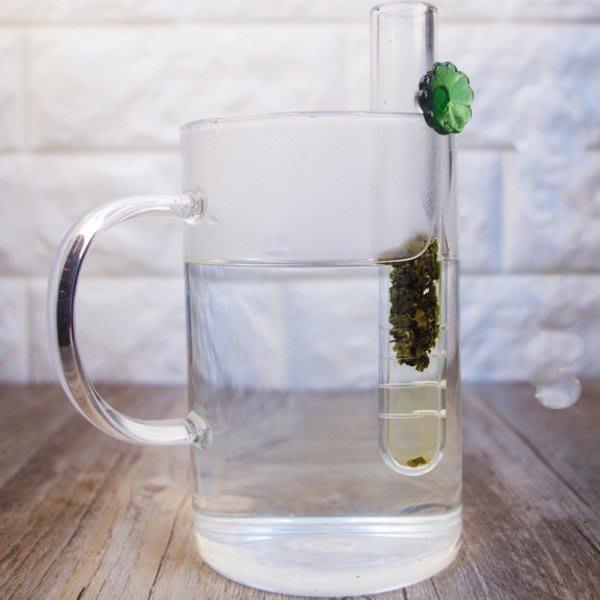 5Cgo【茗道】含稅543106732482 試管滴管透明茶漏耐高溫玻璃泡茶器過濾器茶濾茶器馬克杯泡茶杯花草茶烏龍綠茶