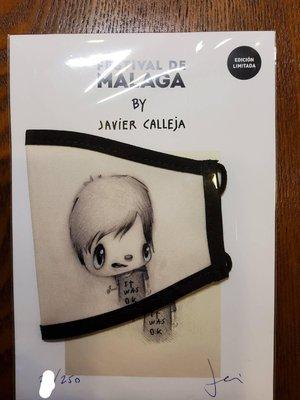 Javier calleja.. 義賣口罩,第一張限量250張,有親簽16800..餘各1600,一起買算2萬