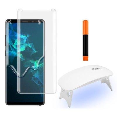 【含UV燈】2片裝 UV全膠曲面內縮版玻璃保護貼DIY組 N10/N9/N8/S20/S10/S9/S8/S7E