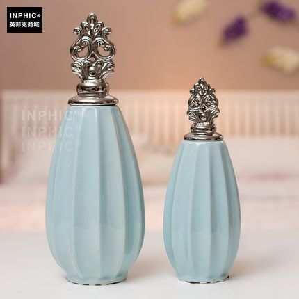 INPHIC-歐式擺件新家裝飾品陶瓷工藝品 擺設鍍銀 將軍罐 收納_S02064C
