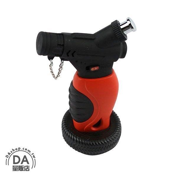 直沖式 防風打火機 噴槍式打火機 噴射火熖 焊槍焊接 可充瓦斯 重複使用 有安全卡損(37-877)