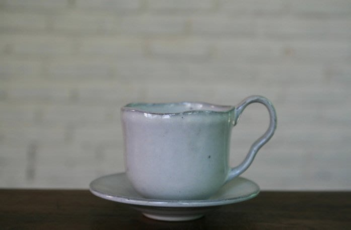 【Qmoment】知名設計師手燒陶瓷 Tea cup不規則茶杯組。雜貨 陳列 法式 鄉村