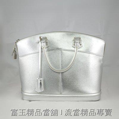流當二手精品 LV 銀色牛皮手提包 限量版 (中款)  -9成新 富玉當舖