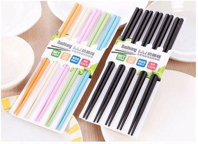 【雷恩的美國小舖】台灣製 Dashiang 高分子玻璃纖維抗菌筷 六角筷 筷子 五彩/黑色