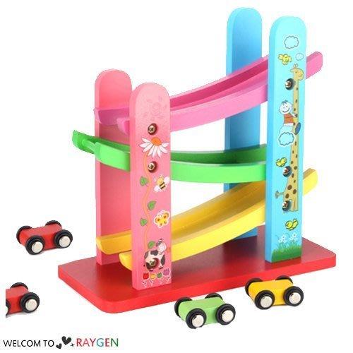 八號倉庫 兒童趣味木製慣性軌道滑車 益智玩具【1X012M0106】