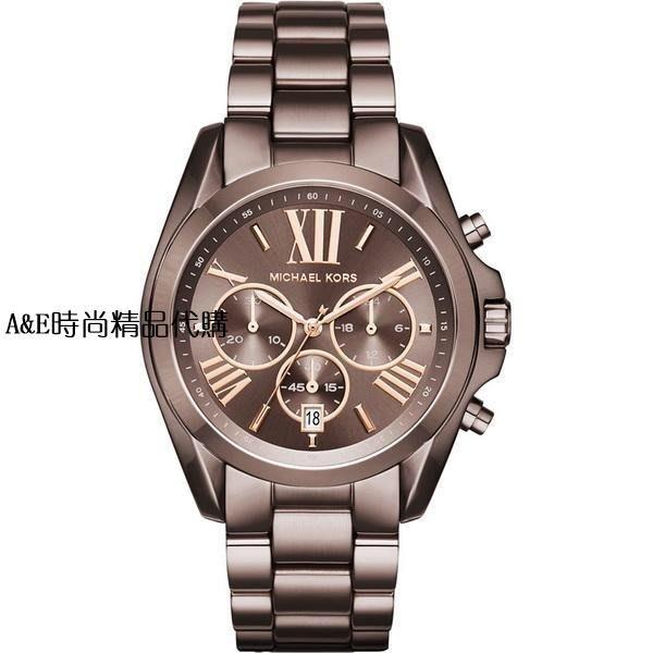 A&E精品代購 Michael Kors腕錶 MK6247 咖啡錶框鋼錶帶 三眼計時手錶  美國代購