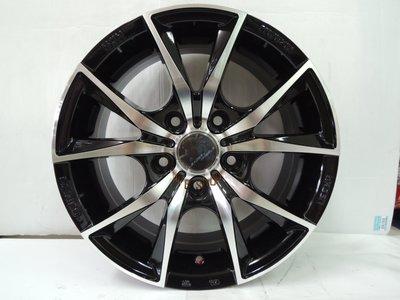 ╭☆輪鋪☆╯全新 (H712) 15吋4孔100/5孔114.3 黑車面鋁圈