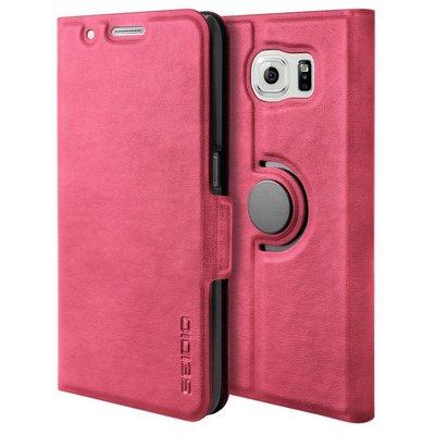 【妮可3C】Samsung Galaxy S6 LEDGER™ 掀蓋式保護殼 - 粉紅