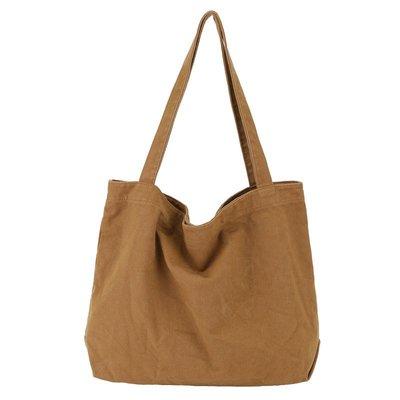 單肩包 帆布 手提包-復古簡約輕便大容量女包包4色73wo5☆奧莉芙☆