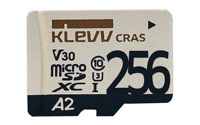 《SUNLINK》KLEVV 科賦 256GB 記憶卡 microSDXC A2 V30 UHS-I U3 附轉卡