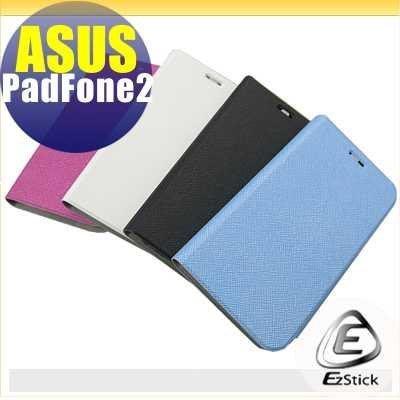 【EZstick】ASUS Padfone 2 A68 手機專用皮套(側翻款式#03)(四款顏色,擇一選購)