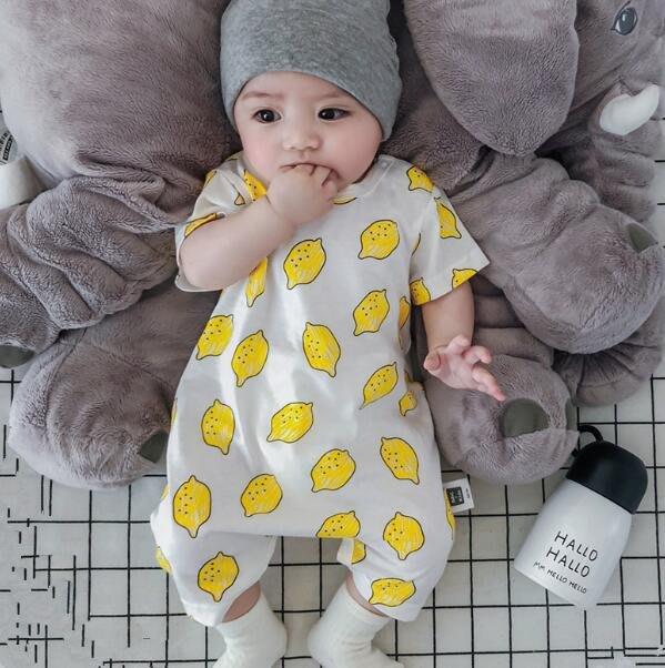 包屁衣 0-3-6-9-12個月嬰兒連體衣夏季新生男女寶寶短袖爬服全純棉包屁衣—莎芭