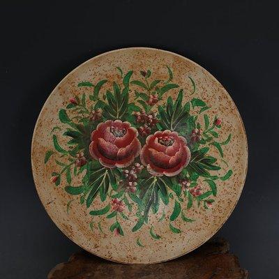 ㊣姥姥的寶藏㊣ 宋代定窯加彩手繪牡丹紋斗笠碗  出土文物古瓷器古玩古董收藏擺件