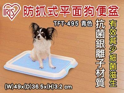 【-不可超取】 IRIS平面網底狗便盆(小)TFT-495  青色 網狀防抓狗尿盆 (81322737