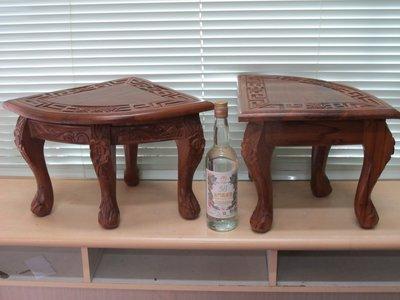 二手舖~NO.131原木 木椅 裸空雕花 泡茶椅  歡迎自取  物品重  另有優惠喔