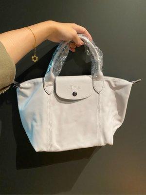 Longchamp 小羊皮 灰白 新款 s