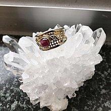 18k Ruby with diamonds ring(ring size 14)/ 18k 紅寶石鑲鑽石介指(圈位14號)